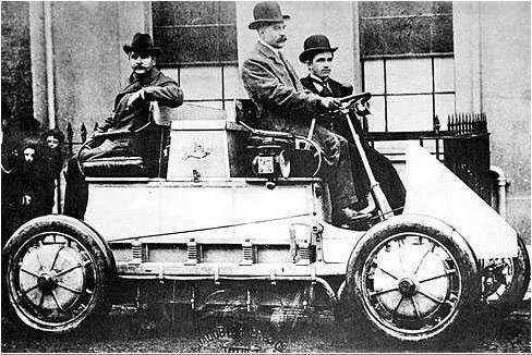 coche hibrido año 1900