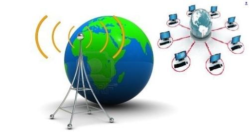 transmisión de internet a alta velocidad por frecuencias de radio