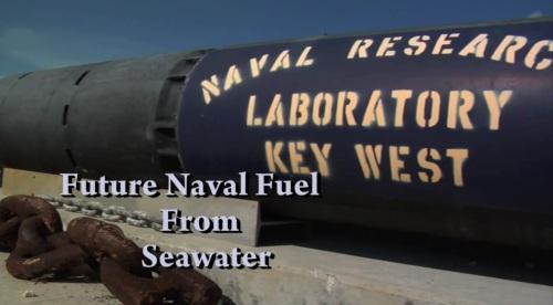 La marina americana obtiene combustible del agua de mar