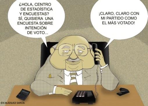LA VERGONZOSA MANIPULACION DE LAS ENCUESTAS ELECTORALES EN ESPAÑA