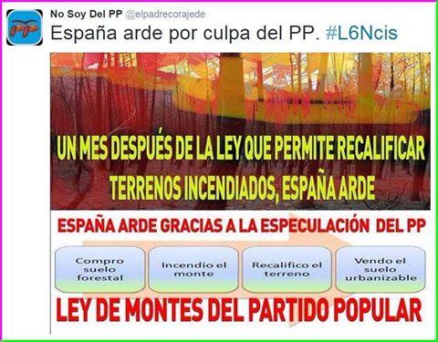 ley de montes españa incendios forestales