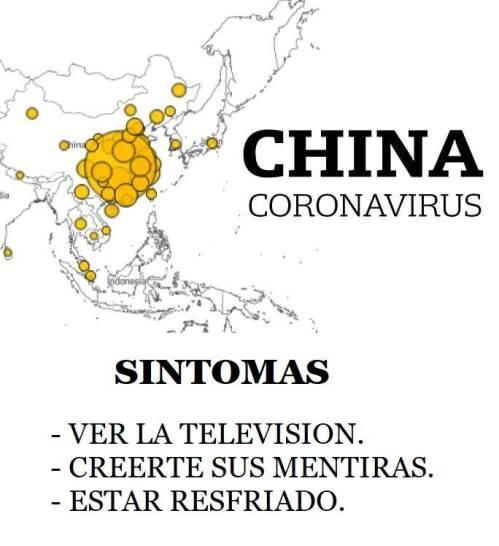 CORONAVIRUS, un cuento chino, otro fraude
