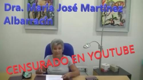 Los peligros reales de esta falsa pandemia por la catedrática MARIA JOSE MARTINEZ ALBARRACIN - CENSURADO EN YOUTUBE