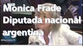 LA DIPUTADA ARGENTINA MONICA FRADE DEFIENDE EL DIOXIDO DE CLORO
