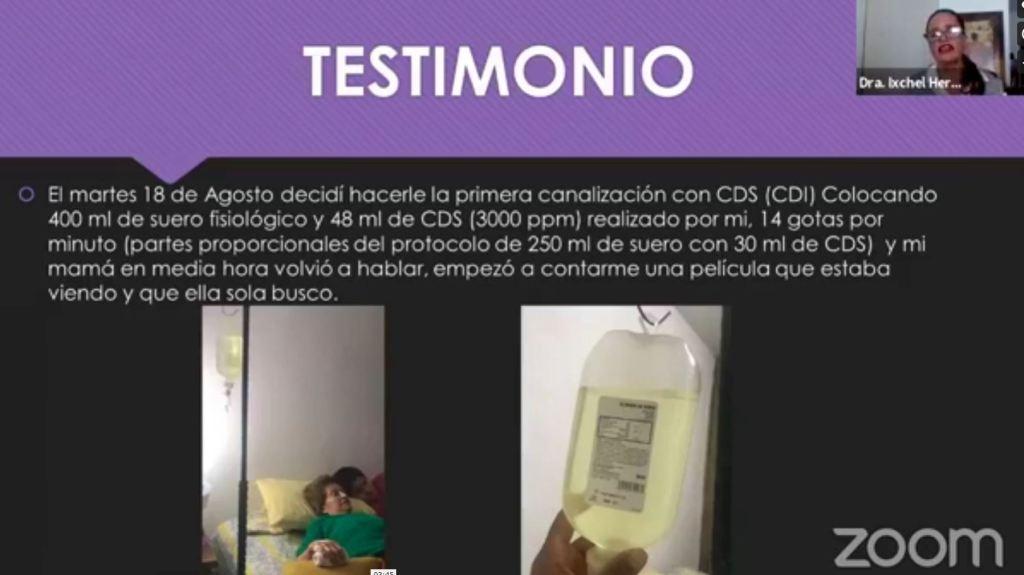Testimonio de una mujer recuperada de infarto cerebral con DIÓXIDO DE CLORO