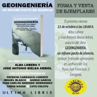 FIRMA DE LIBROS DEL BESTSELLER 'GEOINGENIERÍA, UN INFAME PACTO DE SILENCIO' EL 22 DE OCTUBRE